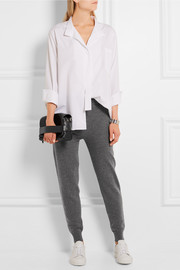 Burberry Brit Cashmere and cotton-blend track pants