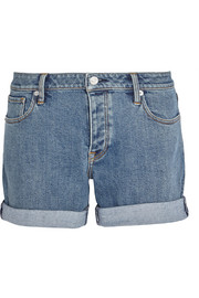 Stretch-denim shorts