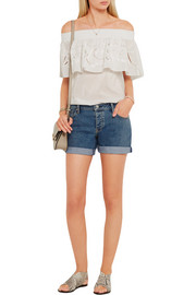 Burberry Brit Stretch-denim shorts