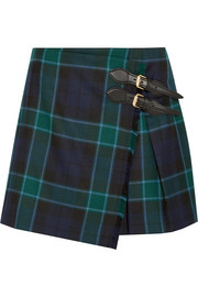 Burberry Brit Pleated tartan wool mini skirt