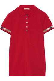Burberry Brit Stretch-cotton piqué polo shirt