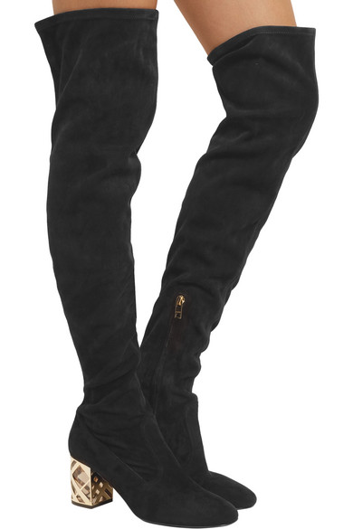 735f85a23a6 Burberry. Suede over-the-knee boots