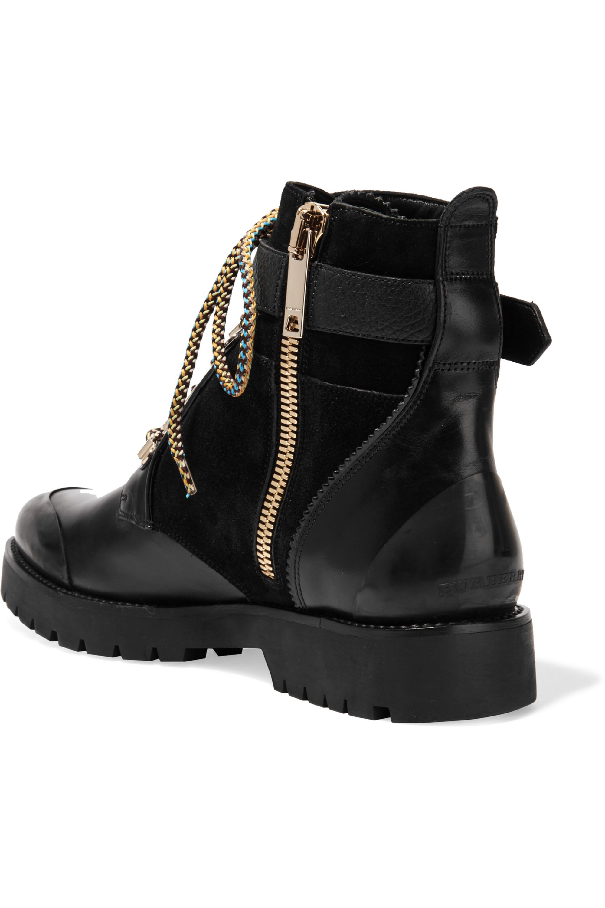 Burberry Leather and suede ankle boots