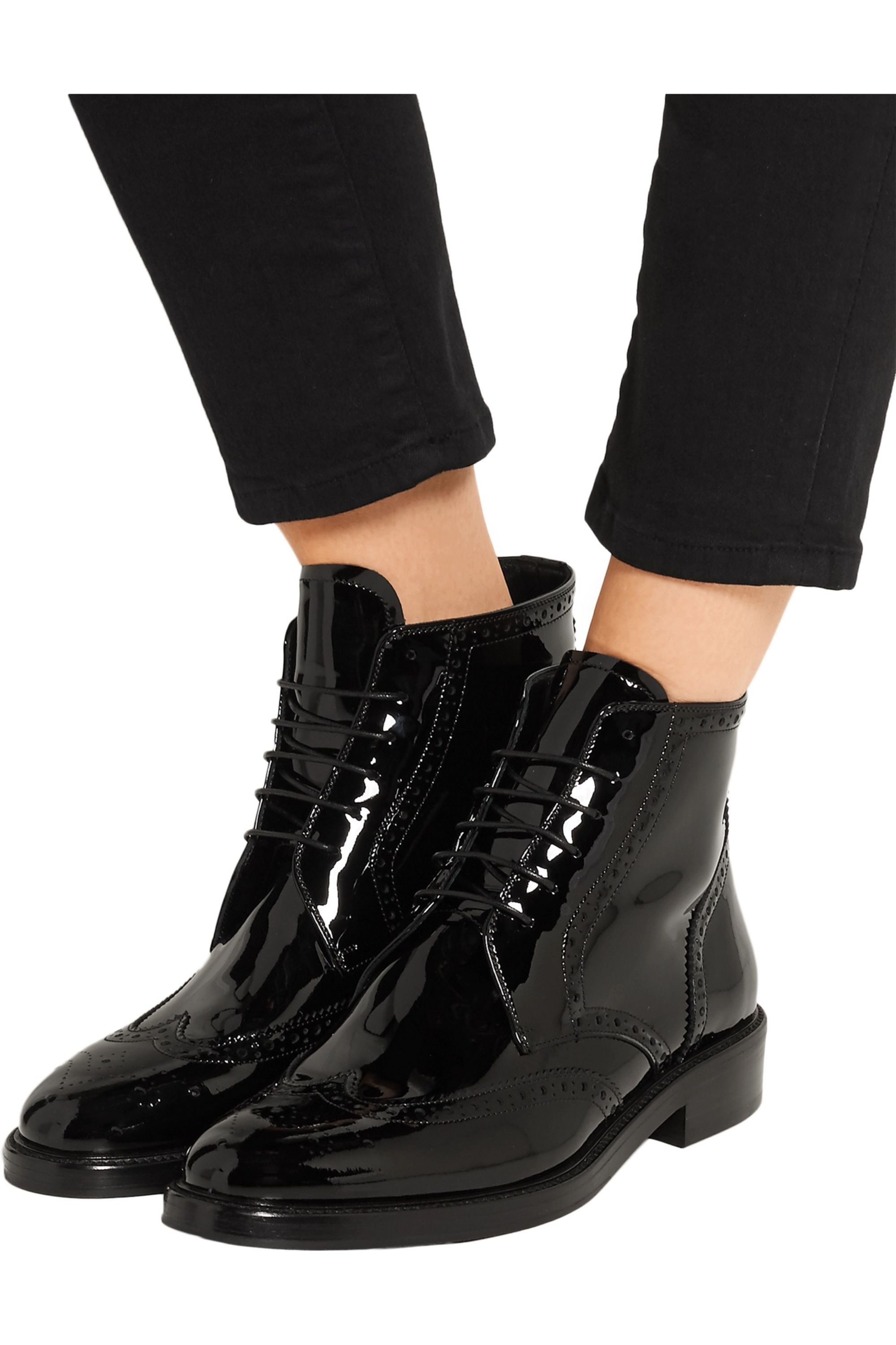 Black Patent-leather ankle boots