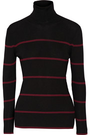 Fendi Striped ribbed wool turtleneck sweater