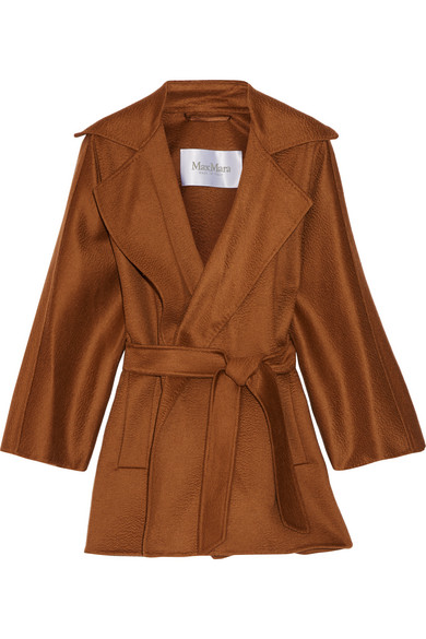 Max Mara - Gas Cashmere Wrap Coat - Brown