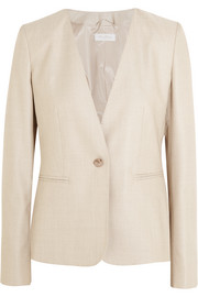 Colonia stretch wool and silk-blend jacket