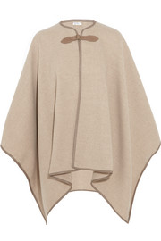 Verbas leather-trimmed wool cape