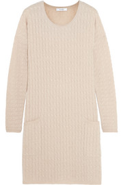 Veggia cable-knit wool and cashmere-blend dress