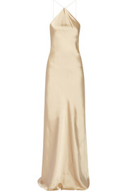 Calvin Klein Collection Satin halterneck gown