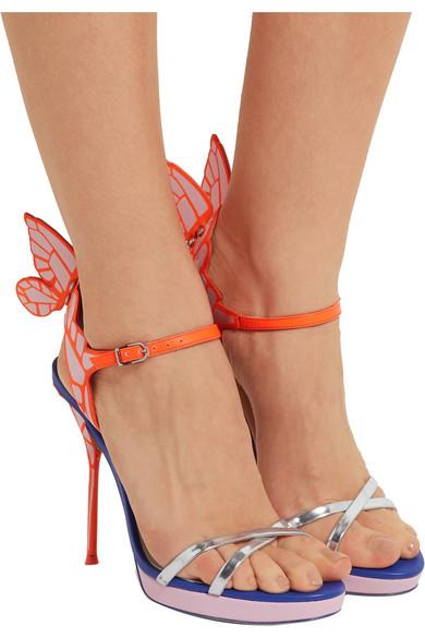3bda4169e42e Sophia Webster. Chiara metallic patent-leather platform sandals