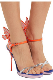 Sophia Webster Chiara metallic patent-leather platform sandals