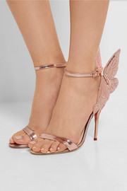 Sophia Webster Chiara metallic embroidered leather sandals