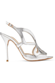 Sophia Webster Madame Butterfly mirrored-leather sandals