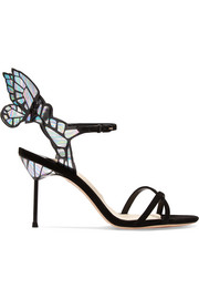 Sophia Webster Chiara patent-leather and suede sandals