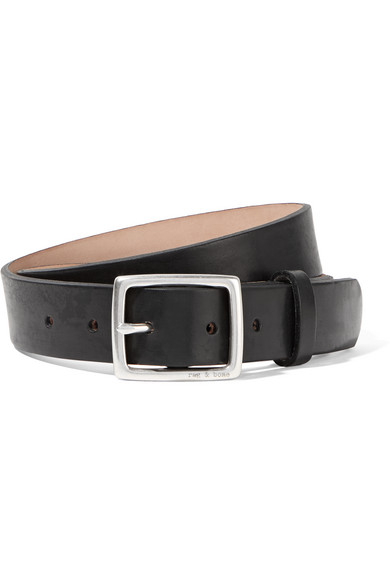 Rag And Bone Black Leather Boyfriend Belt