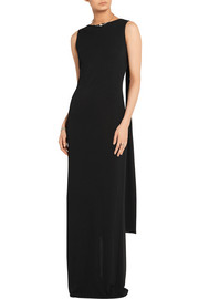 Stretch-jersey gown