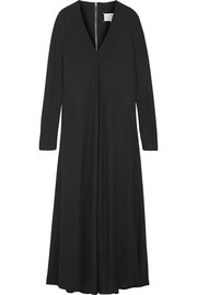 Maison Margiela Pleated crepe maxi dress