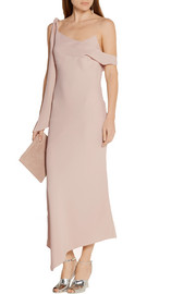 Asymmetric crepe dress