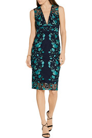 Lela Rose Embroidered tulle dress