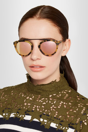 Westward Leaning x Olivia Palermo Flower 13 aviator-style acetate mirrored sunglasses