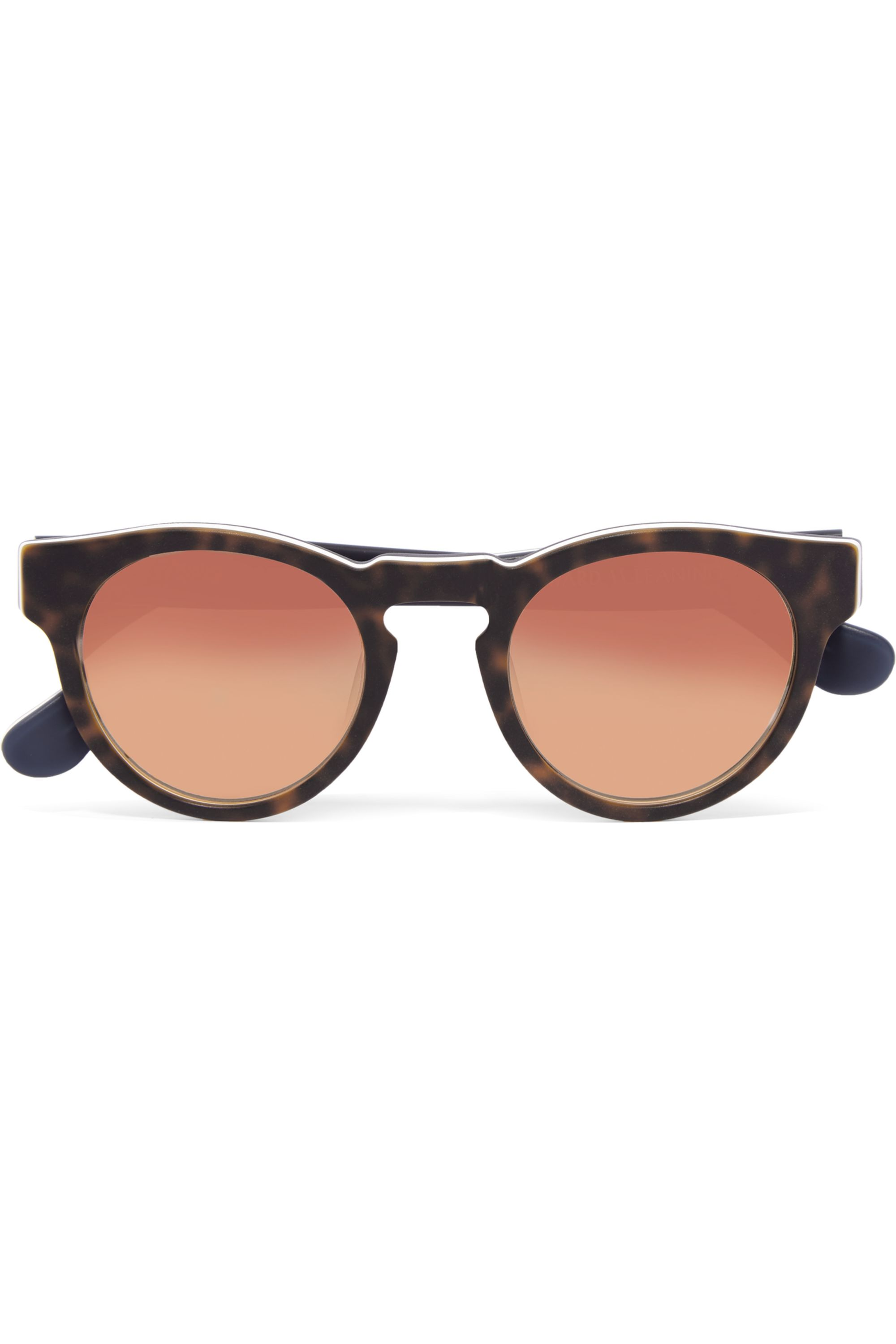Westward Leaning x Olivia Palermo Voyager 14 round-frame acetate mirrored sunglasses