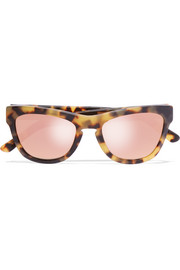 Pioneer 24 cat-eye acetate mirrored sunglasses