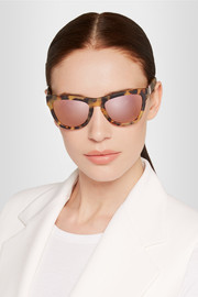 Westward Leaning x Olivia Palermo Pioneer 24 cat-eye acetate mirrored sunglasses