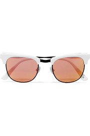 Vanguard D-frame acetate mirrored sunglasses