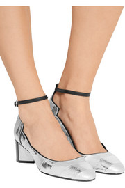 Pierre Hardy Belle striped metallic watersnake pumps