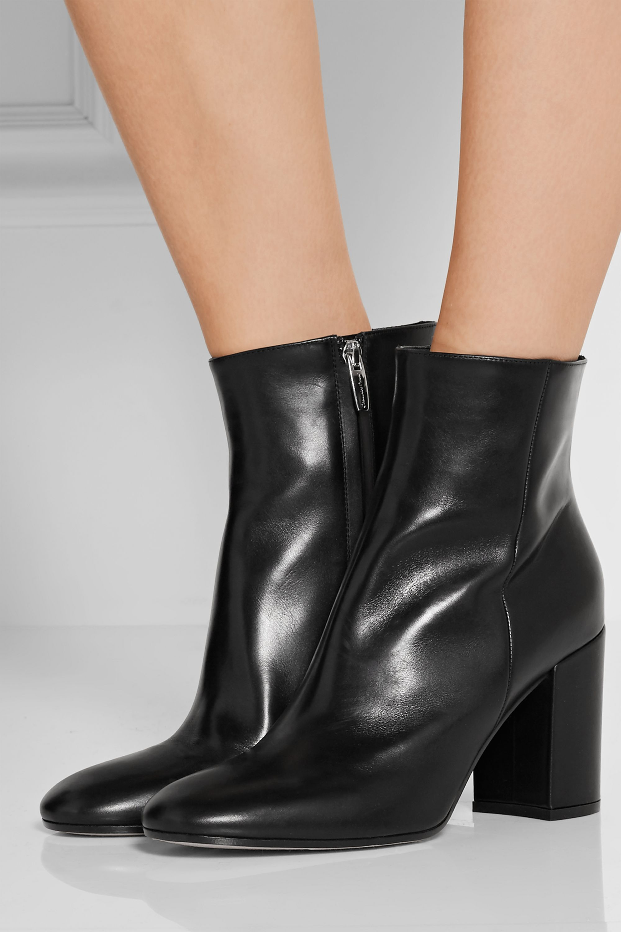 Gianvito Rossi 85 leather ankle boots