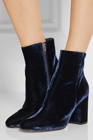 Gianvito Rossi Velvet Ankle Boots Net A Porter Com