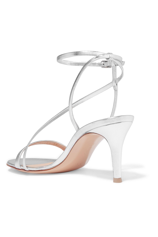 Gianvito Rossi Metallic leather sandals