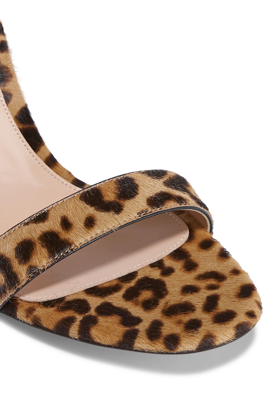Gianvito Rossi Portofino leopard-print calf hair sandals