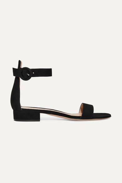 Gianvito Rossi Portofino 20 Sandalen aus Veloursleder Verkauf Online-Shopping PrS8j