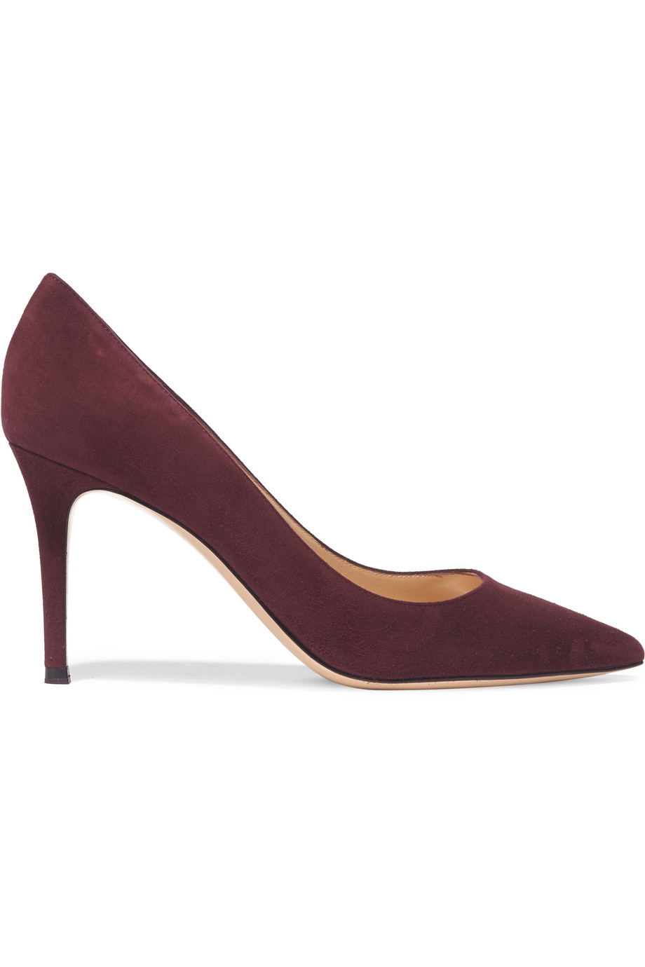 Gianvito Rossi Suede Pumps, Plum/Burgundy, Women's US Size: 5, Size: 35.5