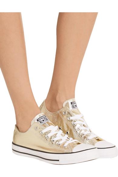 b5c4861e3aa6 Chuck Taylor All Star metallic coated-canvas sneakers