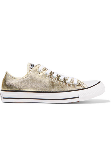 f2e12c7f6433 Converse. Chuck Taylor All Star metallic coated-canvas sneakers