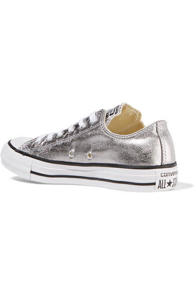 eccc9af2d29f Converse. Chuck Taylor All Star metallic coated-canvas sneakers. £23. Zoom  In