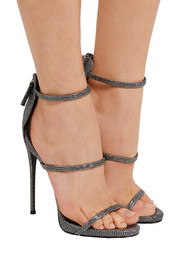 Giuseppe Zanotti Metallic lizard-effect leather sandals