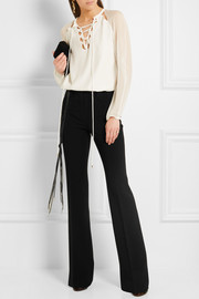 Altuzarra Serge stretch-crepe flared pants