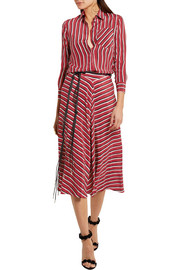 Altuzarra Striped silk crepe de chine skirt