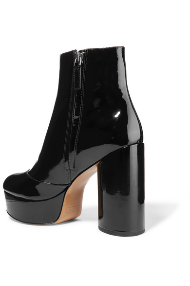 05249ea1088 Marc Jacobs. Amber patent-leather platform ankle boots. £218. Zoom In