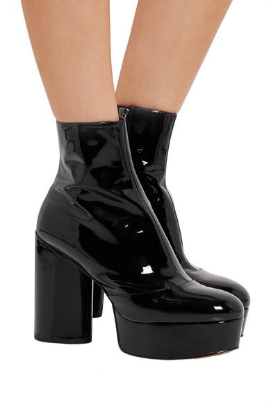 95a211719de Marc Jacobs. Amber patent-leather platform ankle boots