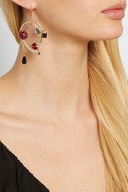 Gold-plated multistone earrings