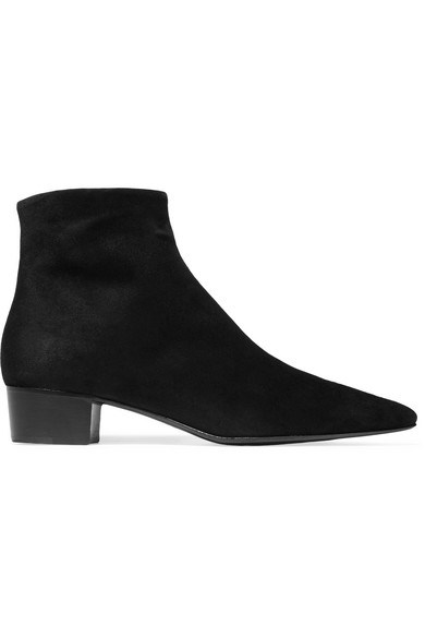 The Row Ambra Ankle Boots aus Veloursleder Amazon Footaction vg2L6