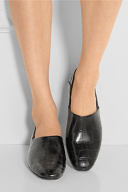 The Row Noelle alligator loafers