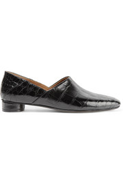The Row Noelle collapsible-heel alligator loafers