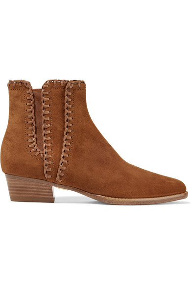 michael kors female 211468 michael kors collection presley suede ankle boots light brown