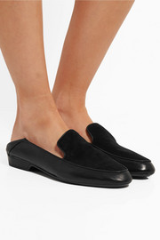 Robert Clergerie Fani suede and leather loafers